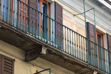 Free Old House With Balconies Royalty Free Stock Image - 24137366