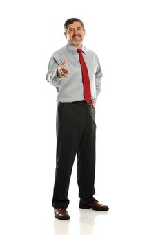 Free Mature Businessman Extending A Hanshake Stock Photos - 24138493