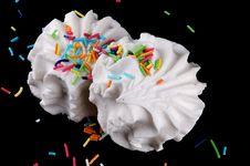 Two Dessert Marshmallows Royalty Free Stock Photo