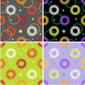 Free Set Of Floral Seamless Patterns Stock Photo - 24142970