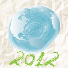 Free Child Earth Doodle Stock Photos - 24140243