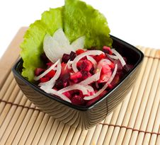 Free A Russian Salad With Semirings Onions Stock Photos - 24145143