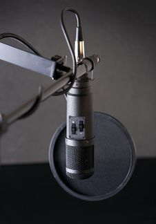 Professional Studio Microphone Stock Images