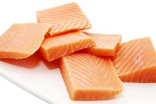 Free A Plate Of Salmon Meat Royalty Free Stock Photos - 24147808