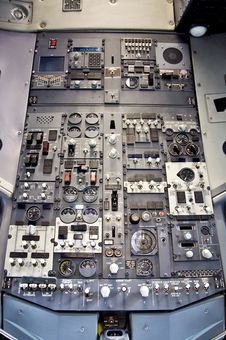 Free Boeing Overhead Pannel Royalty Free Stock Photos - 24148088