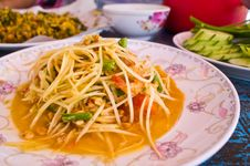 Free Som Tam,Thai Papaya Salad Royalty Free Stock Image - 24149326