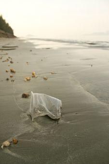 Free Plastic Trash On Beach Stock Image - 24149401