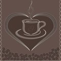 Free Vector Illustration With Cup Of Coffee Stock Photos - 24153333