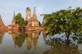 Free Floods Chaiwatthanaram Temple At Ayutthaya Stock Image - 24156161