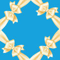 Free Frame Of Yellow Ribbons And Bows Stock Images - 24157284