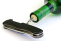 Free Cork Versus Pocket Knife Stock Photo - 24159390