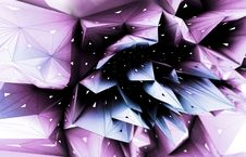 3D Abstract Violet Blossom Stock Photo