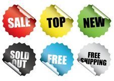 Free Shopping Stickers Stock Images - 24154634