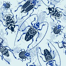 Free Seamless Bug Pattern Stock Images - 24155764