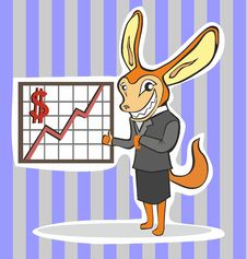 Free Financial Director Fox Thumbs Up Stock Photography - 24155772