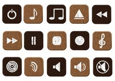 Free Music Icons Set Royalty Free Stock Images - 24157449