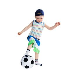 Free Little Soccer Player Royalty Free Stock Photos - 24159028