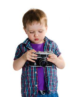 Free Retro Baby Photographer Royalty Free Stock Photography - 24159137