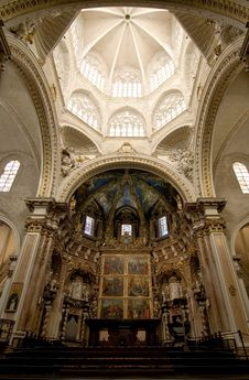 Free Valencia Cathedral Sanctuary Stock Images - 24160104