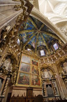 Free Valencia Cathedral Sanctuary - Vertical View Stock Photo - 24160170