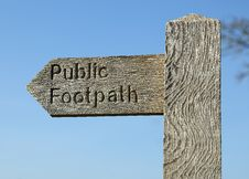 Free Public Footpath Stock Photography - 24160802