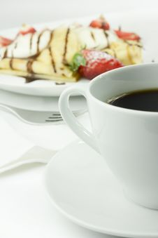 Free Coffee And Pancake Stock Images - 24161074