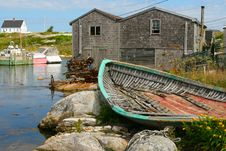 Free Peggy S Cove Royalty Free Stock Image - 24161996