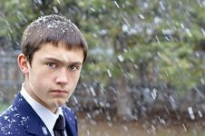 Free Guy In The Snow Royalty Free Stock Photos - 24162638