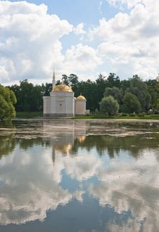 Pavilion Turkish Bath. Tsarskoye Selo. Russia. Stock Photography