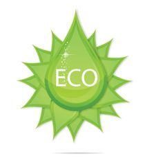 Free Creative Eco Green Drop Symbol Royalty Free Stock Images - 24167839