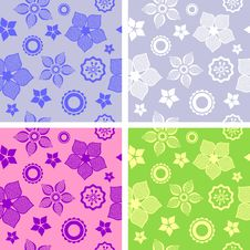 Free Seamless Flower Pattern Stock Images - 24167984