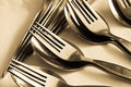 Free Close-up Of Spoon And Fork Stock Image - 24174451