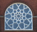 Free Old Blue Arched Stained Glass Window Stock Photography - 24176202