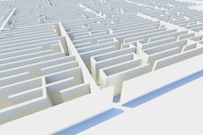 Free Endless Maze 3d Illustration Royalty Free Stock Photos - 24171798