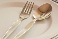 Free Close-up Of Spoon And Fork Royalty Free Stock Photo - 24174525
