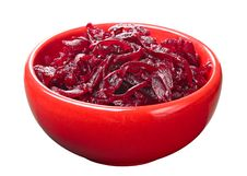 Free Grated Boiled Beet In A Red Cup Stock Photos - 24174833