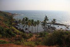 Free Shore Of The Indian Ocean  Anjuna, Goa Royalty Free Stock Images - 24175089