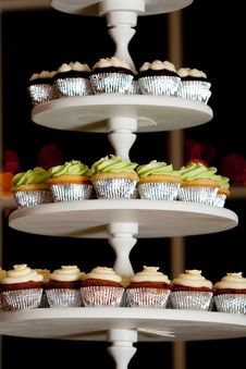 Miniature Cupcakes At A Wedding Stock Images