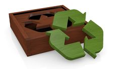 Free Symbol Of Recycling As A Toy Royalty Free Stock Photo - 24186535