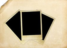 Free Photo Frame On Vintage Paper Royalty Free Stock Images - 24187619