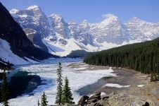 Free Moraine Lake Stock Image - 24187731