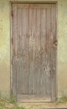 Free Old Wood Door Stock Image - 24187931