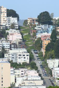 Free San Francisco Lombard Street Royalty Free Stock Photo - 24188125