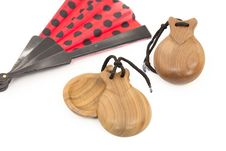 Free Castanets With Fan Stock Photos - 24189053