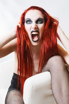 Free Expressive Gothic Woman With Artistic Makeup Stock Photos - 24189803