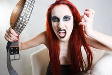 Free Expressive Gothic Woman With Artistic Makeup Royalty Free Stock Photos - 24189918