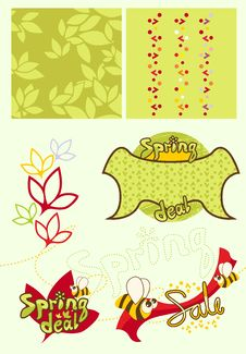 Free Cute Baby-style Spring Set Stock Photos - 24192993