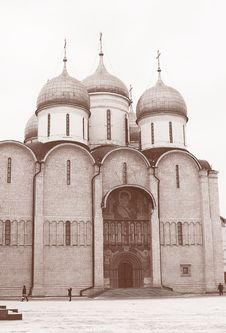 Free Moscow Kremlin Cathedral Royalty Free Stock Photo - 24195085