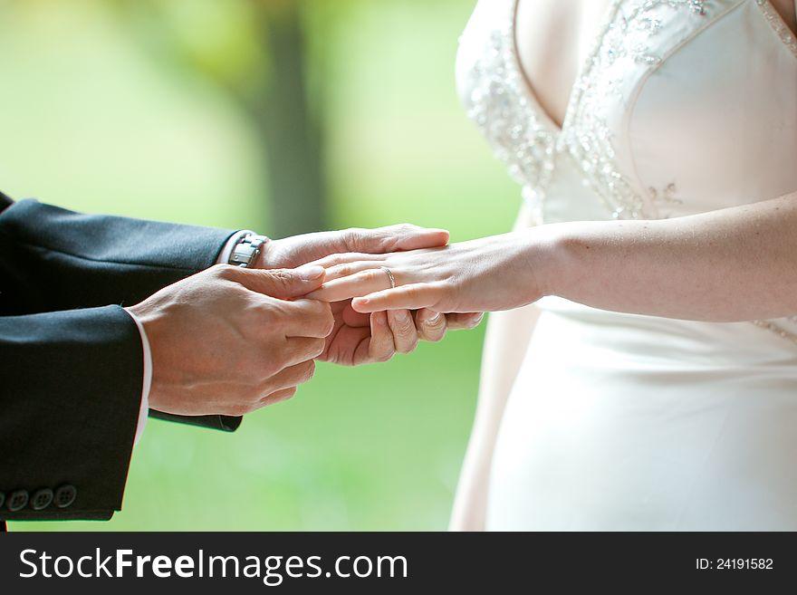 Wedding Ring Exchange Free Stock Images Photos