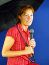 Free Singing In The Rain Royalty Free Stock Image - 2422956